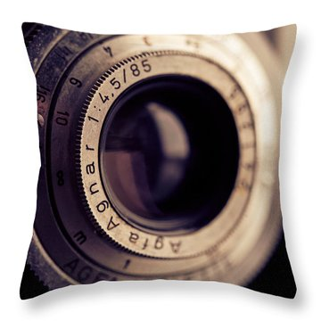 An Old Friend Throw Pillow by Yvette Van Teeffelen