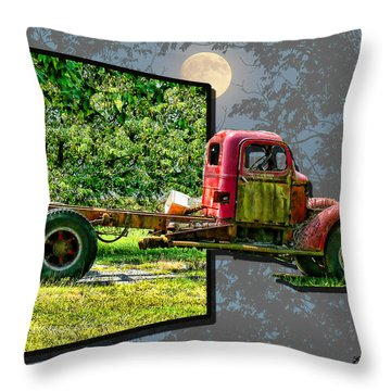 Throw Pillow featuring the photograph An Old Relic by EricaMaxine  Price
