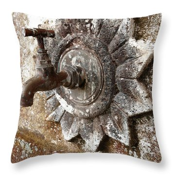 An Old Tap Throw Pillow by Gaspar Avila