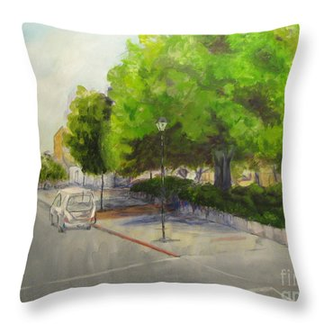 an Old Tree at 3rd and E Throw Pillow