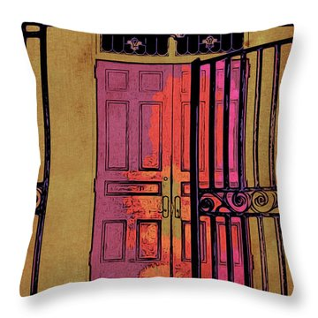 An Open Gate Throw Pillow
