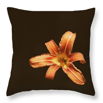 An Orange Lily Throw Pillow
