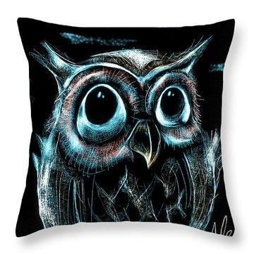 An Owl Friend Throw Pillow