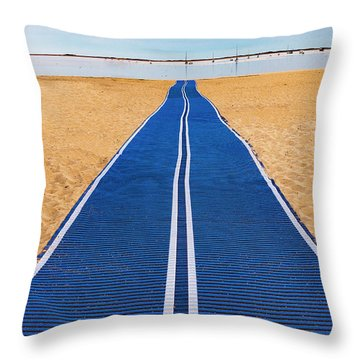 Throw Pillow featuring the photograph An Uncommon Path by Paul Wear