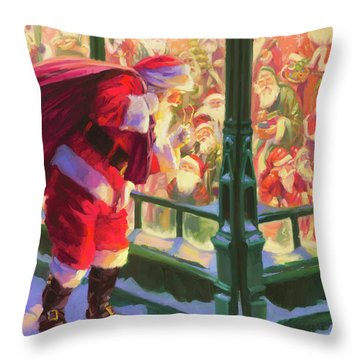 An Unforeseen Encounter Throw Pillow