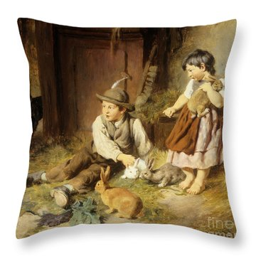 An Unwelcome Visitor Throw Pillow by Felix Schlesinger