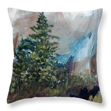 An Yosemite Afternoon Throw Pillow