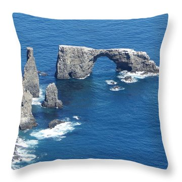 Anacapa Island Arch Rock Throw Pillow