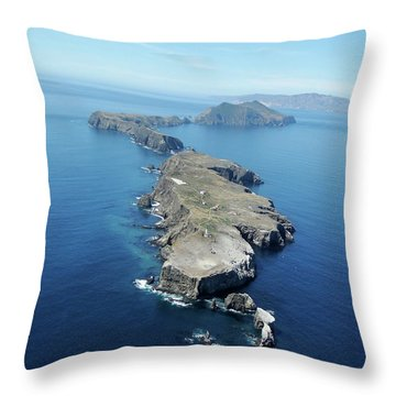 Anacapa Island Throw Pillow