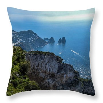 Anacapri On Isle Of Capri Throw Pillow