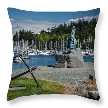 Anacortes Washington Harbor Throw Pillow