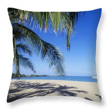 Anaehoomalu Bay Throw Pillow by Greg Vaughn - Printscapes