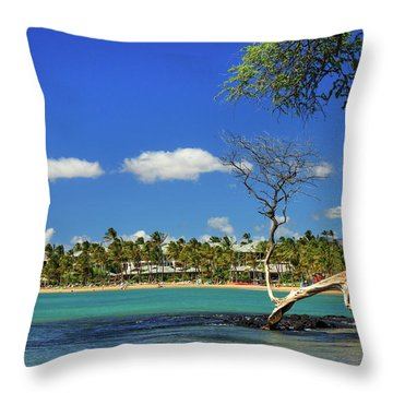 Anaehoomalu Bay Throw Pillow by James Eddy