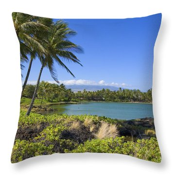 Anaehoomalu Bay Throw Pillow by Ron Dahlquist - Printscapes