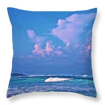 Anaeho'omalu Waves And Clouds Throw Pillow