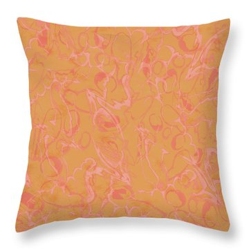 Analogous Dribble Painting Throw Pillow