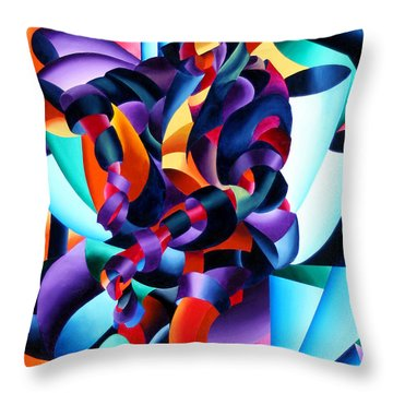 Anamorphosis From The Outside In Throw Pillow