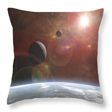 Ananke Throw Pillow