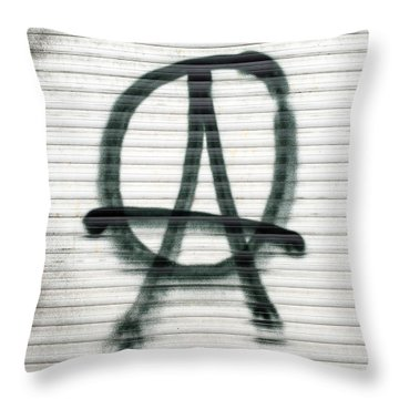 Anarchist Symbol Throw Pillow