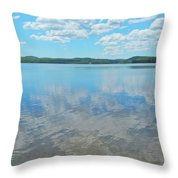Anasagunticook Lake, Canton, Me, Usa 10 Throw Pillow