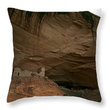 Anasazi Indian Ruin Throw Pillow