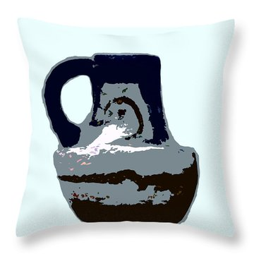 Anasazi Jug Throw Pillow by David Lee Thompson