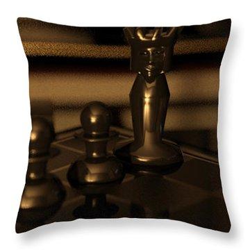 Anastasias Mate Throw Pillow by James Barnes
