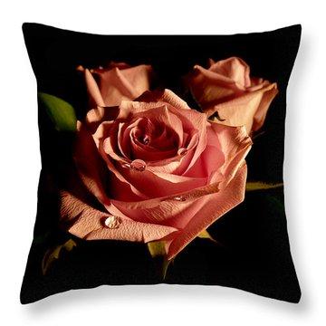 Anastasia's Rose Throw Pillow by Susan Duda