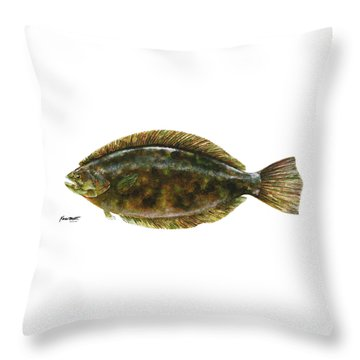 Anatomical Flounder Throw Pillow