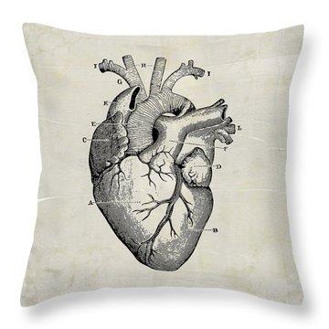 Anatomical Heart Medical Art Throw Pillow