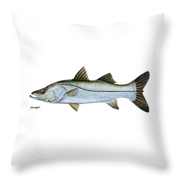 Anatomical Snook Throw Pillow