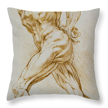 Anatomical Study Throw Pillow by Rubens