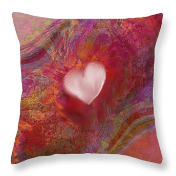 Anatomy Of Heart Throw Pillow