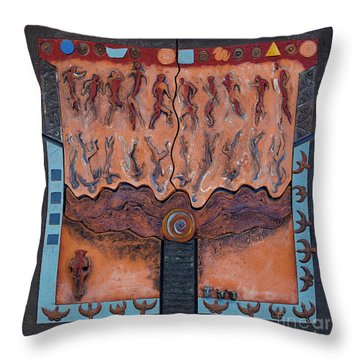 Ancestral Chart- Ancient Early - Hunters Gatherers - Chasseurs Cueilleurs - Cazadores Recolectores  Throw Pillow