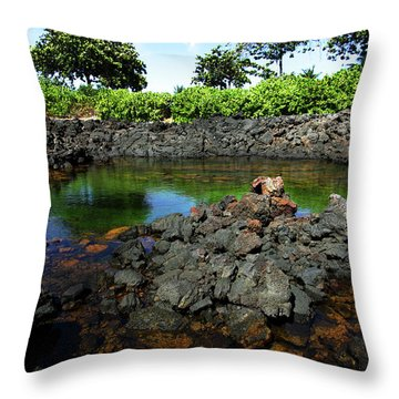 Throw Pillow featuring the photograph Anchialine Pond by Anthony Jones