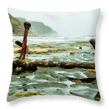 Throw Pillow featuring the photograph Anchor At Rest by Angela DeFrias