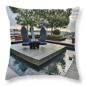 Anchor Monument Throw Pillow