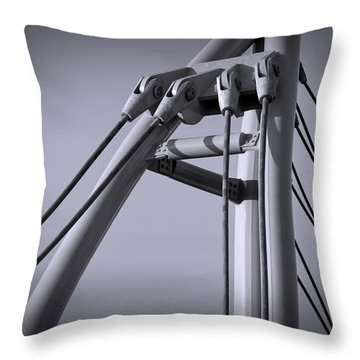 Anchor Point Throw Pillow
