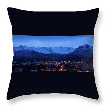 Anchorage At Sunrise Throw Pillow