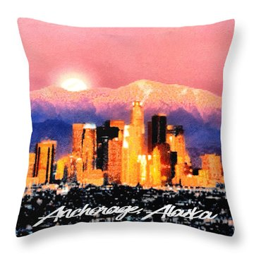 Anchorage - Bright-named Throw Pillow