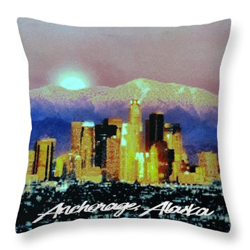 Anchorage-subdued Throw Pillow