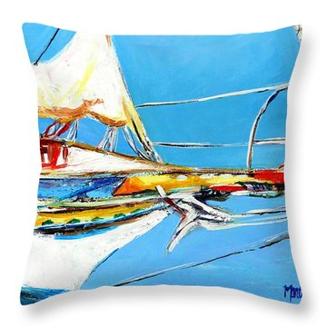 Anchored 2 Throw Pillow by Marti Green