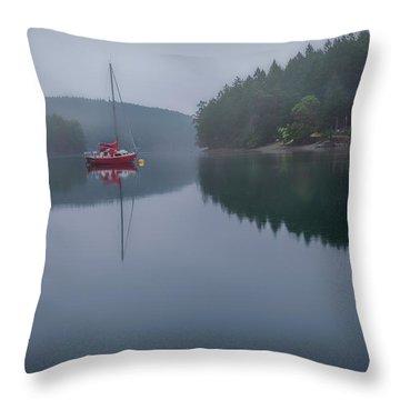 Anchored At Horton Bay Throw Pillow