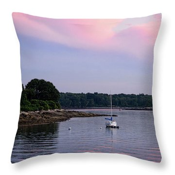 Anchored At Peaks Island, Maine  -07828 Throw Pillow