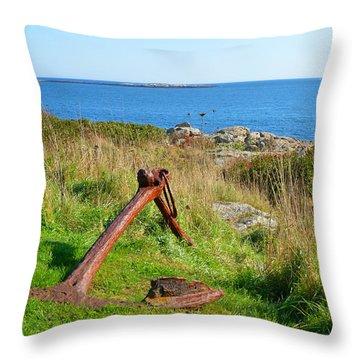 Anchored Throw Pillow by Corinne Rhode