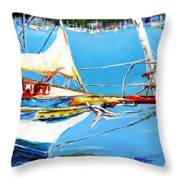 Anchored Throw Pillow by Marti Green