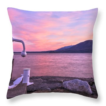 Anchors Aweigh Throw Pillow by Angelo Marcialis