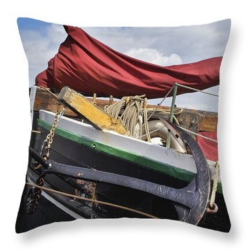 Anchors Up Throw Pillow by Robert Lacy