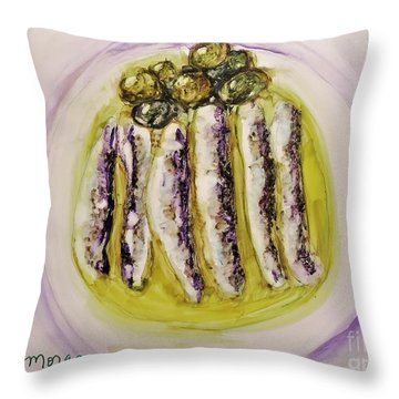 Anchovies And Olives Throw Pillow