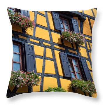 Ancient Alsace Auberge Throw Pillow